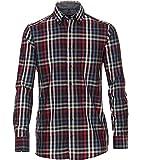 CASAMODA Camisa de cuadros Comfort Fit., rojo oscuro, XXXXL