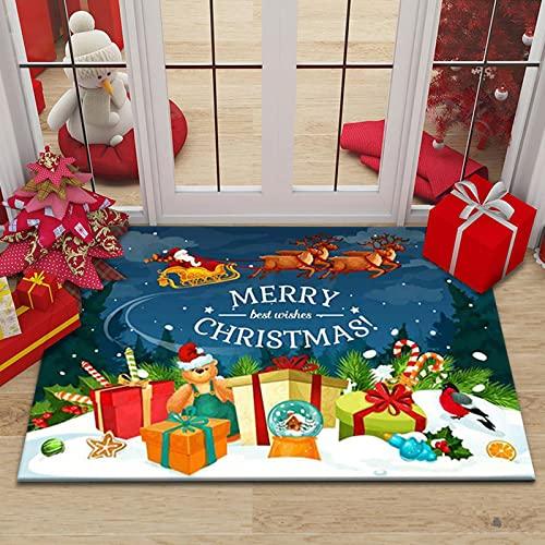 Día De Navidad Alfombra Roja Puesta En Escena del Hotel Casa Sala De Estar Dormitorio Manta De Noche Gruesa Felpudo Antideslizante Mascota Puede Usar Alfombra Anti-Perdida