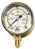 JRA-Longlife Manómetro de glicerina 0-400 bar Conexión diámetro 63, inferior G1/4'