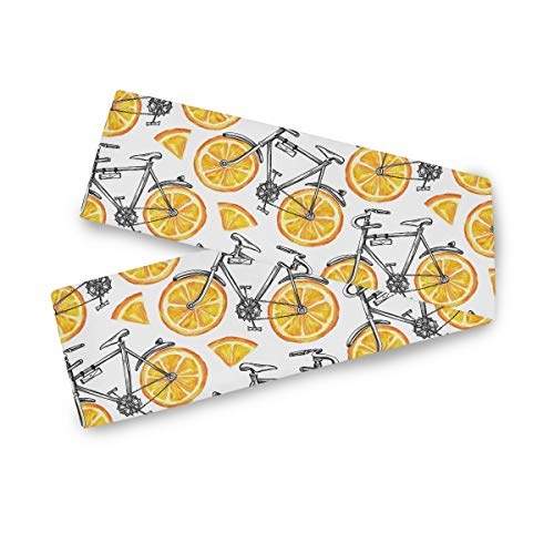 TropicalLife Camino de mesa rectangular F17 para bicicleta, diseño de frutas de limón, 33 x 177,8 cm, poliéster, decoración para bodas, cocinas, fiestas, banquetes, comedores, mesas de café