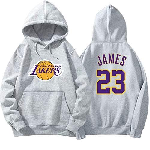 DHRBK Lakers James 23# Sudadera con Capucha de Manga Larga Sudadera Deportiva...