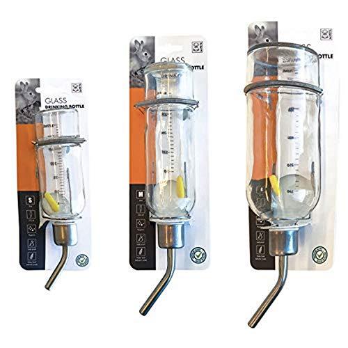 MPets 40500100 Kleintiertränke aus Glas, 350 ml