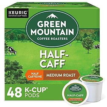 Green Mountain Coffee Roasters Half Caff Single-Serve Keurig K-Cup Pods Medium Roast Coffee 48 Count