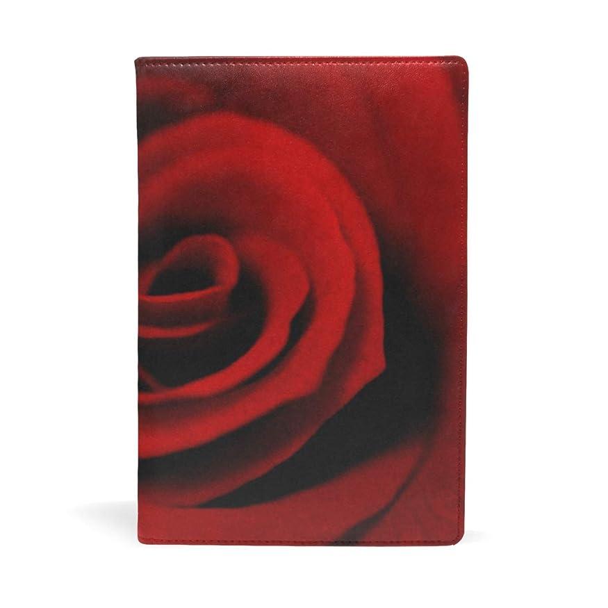 入浴送る解決薔薇柄 ブックカバー 文庫 a5 皮革 おしゃれ 文庫本カバー 資料 収納入れ オフィス用品 読書 雑貨 プレゼント耐久性に優れ