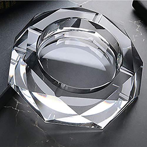 Giow Cenicero, Cristal de Estilo Europeo Sala de Estar KTV cenicero es Conveniente para Limpiar y ocupa Menos Espacio