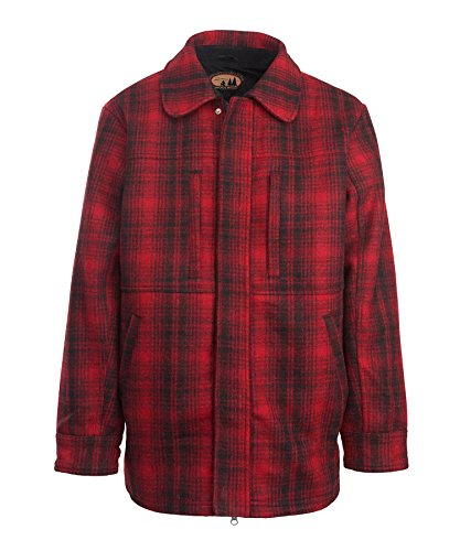 Woolrich Men's Wool Hunting Coat, RED/Black (Red), Size S