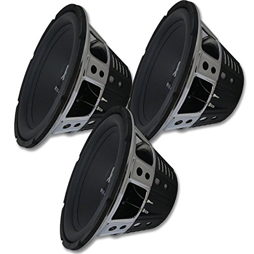 "3 x Hifonics HFX12D4 12"" Car Audio Dual 4-ohm subwoofers 400 watts RMS Sub woofer"