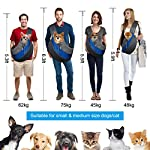 Pet Carrier Hand Free Sling Puppy Carry Bag Small Dog Cat Traverl Carrier with Breathable Mesh Pouch for Outdoor Travel Walking , Pet Supplies (blue) 14