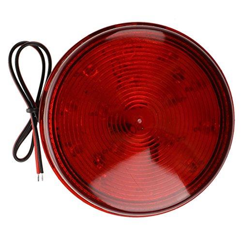 SODIAL(R) Luz de alarma Rojo LED luz estroboscopica de seguridad y casa para la seguridad del sistema de automatizacion para informar al nuevo dispositivo DC12V Advertencia