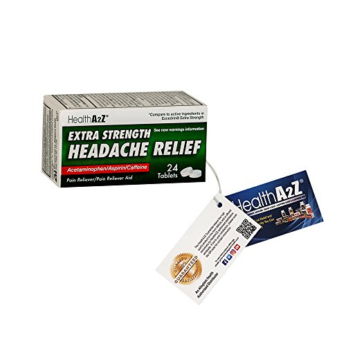 Heahlth A2Z Extra Strength Headache Relief, Compare to Excedrin® Extra Strength Active Ingredient