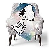 IUBBKI Personalisierte Kinder Fleece Decke Custom, Snoopy, Superweiche Babydecke für Kinderbett Couch Stuhl Wohnzimmer