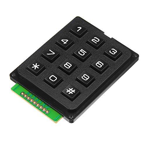 ILS - 12 Key MCU Membrana conmutador Teclado 4 x 3 Matrix Módulo Matrix Matriz Teclado para Arduino