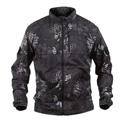 Chaqueta de camuflaje para hombre, ligera, para exteriores, transpirable, de secado rápido, táctica