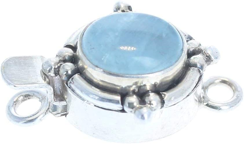 Aquamarine Clasp Oval Max 90% OFF Phoenix Mall Southwest Sterling 8x10mm Style