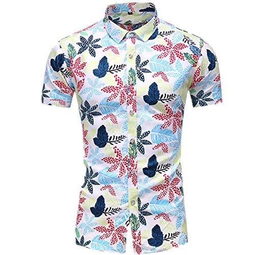 Jinyuan Casual Plus Size Beach Camisa Hawaiana para Hombre...