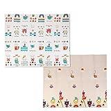 Bamny Babymatte Spielmatte Baby Puzzlematte Faltbarer Krabbelmatte XPE-Schaumboden, Doppelseiten...