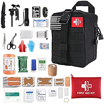LAOZYBF [2020 Upgrade] Medical Reinforcement First Aid Supplies First Aid Kit for Camping and Hiking Outdoor Emergency Survival Kit for Car Travel Camping Hunting Hiking and Adventures