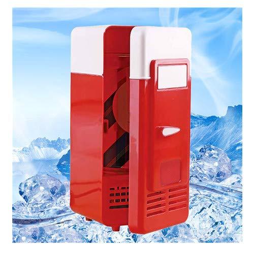 About1988 Mini Portable USB Kühlschrank,Modern Edition Kühlschrank Standkühlschrank,Auto Portable Bier Getränk´Bier Kühler Getränkekühler/Mini-Bar/Retrokühlschrank (Rot)