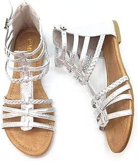 Womens Buckle Zip Thong Gladiator Sandal