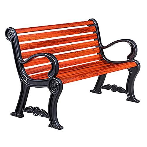 GETZ Banco de Jardín Madera, Banco Jardin Exterior, Banco de Jardín del Parque del Patio, Sofá de Dos Plazas de Los Muebles del Banco del Porche para 2 Personas (Color : Red, Size : 150x64.5x81cm)