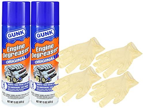 Gunk Original Engine Degreaser (15 oz.) Bundle With Latex Gloves (6 Items)