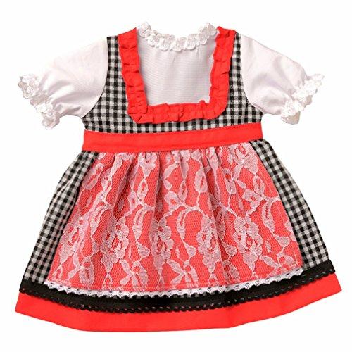 Puppen Kleid Puppen Dirndl von Emil Schwenk für 36 cm bis 40 cm Puppen