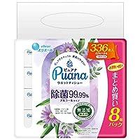 エリエール ピュアナ アルコール除菌ウエットティシュー 除菌99.99% 無添加 無香料 詰替42枚入り 8個X4パック