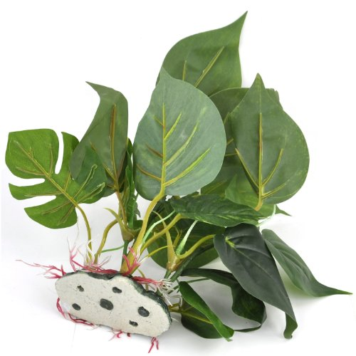 DIGIFLEX 20 cm künstliche Aquariumpflanze, grüne echt aussehende Aquarium-Zierblätter, Plastikpflanzen für Aquarien - 7