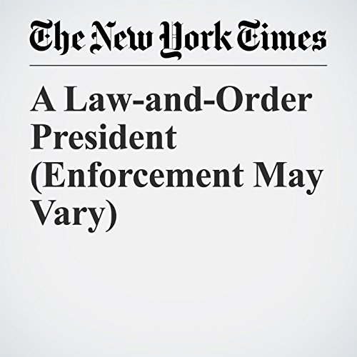A Law-and-Order President (Enforcement May Vary) copertina
