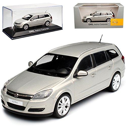 Minichamps Opel Astra Caravan H Kombi Beige Champagner 2004-2010 1/43 Modell Auto mit individiuellem Wunschkennzeichen