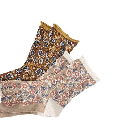 NingChen 6 pares de calcetines para mujer – calcetines de verano para mujer, color puro, lindo divertido regalo de algodón para mujer
