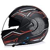 Casco Moto Integral Cascos Modular Flip Up Motocicleta con HD Antivaho Doble Visera Cascos De Motocicleta, ECE/DOT Homologado Transpirable Y Cómoda,para Mujeres Y Hombres(Size:M(57-58CM),Color:B)