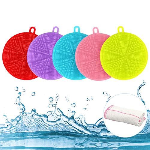 Gifort BPA Frei Silikon Schwamm, Food Grade Multi-Purpose Antibakterielle Silikon Scrubber Schwamm...