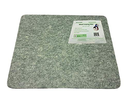 Petolution 100% Wool Pressing Mat for Ironing, Quilting and Sewing-Portable 17x13.5 inches Quilters Pad-Heat Resistant Iron Board for Seamless Results- Perfect for DIY and Embroidery Projects