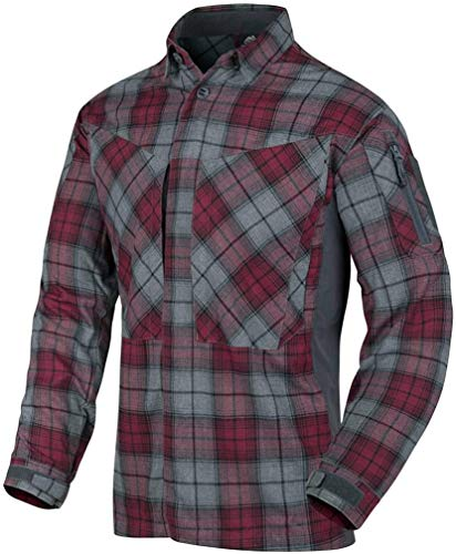 Helikon-Tex MBDU Flannel Shirt® Freizeit Outdoor Hemd -Polyester- Ruby Plaid