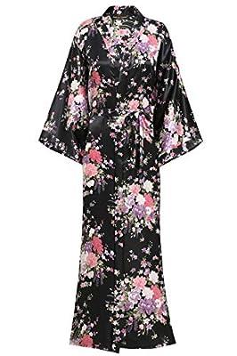 """BABEYOND Kimono Robe Long Floral Bridesmaid Wedding Bachelorette Party Robe 53"""""""