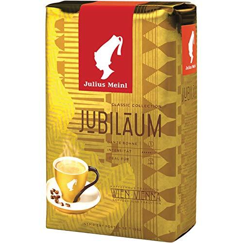 Julius MEINL Kaffee JUBILÄUM, ganze Bohnen, 5 Packungen mit jeweils 500 g, gesamt 2.5 KG