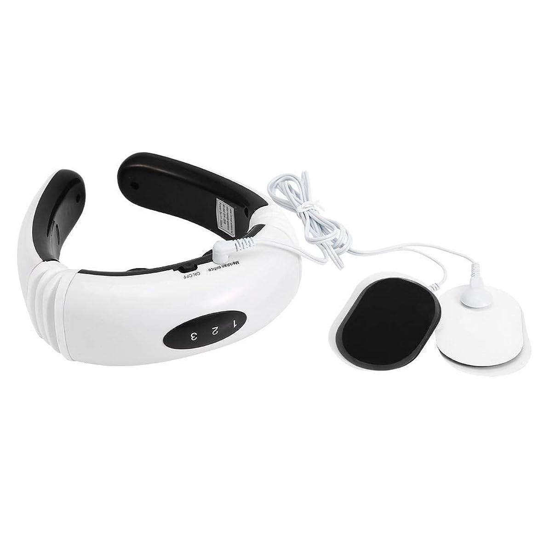 家族乳首マッサージャー電気パルス首マッサージャー磁気療法頸椎子午線マッサージ器具