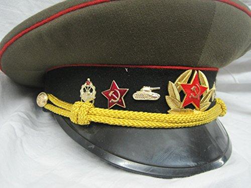 www.Lagermaulwurf.de Schirmmütze Offizier Russland Sowjetunion Panzer Gr. 58 Fasching Karneval Kostüm