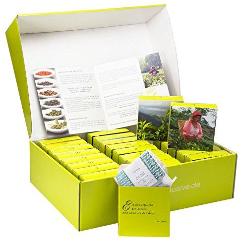 Tee Geschenkbox, Probierset Teereise - 24 verschiedene exklusive lose Tees