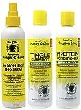 Jamacican Mango & Lime No More Itch Grow Spray 8oz con Tingle Shampoo 8oz y Protein Conditioner 8oz
