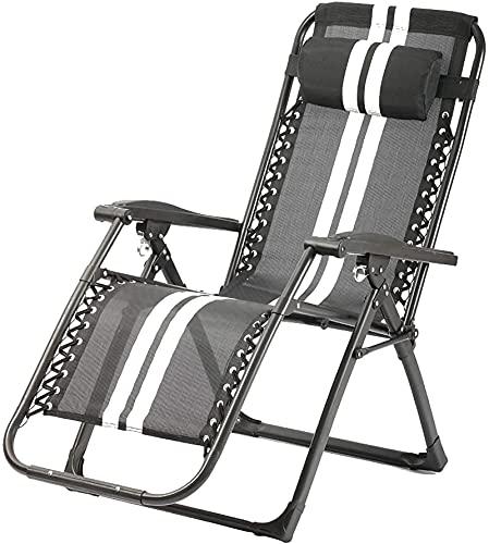 OUMIFA Pieghevole Zero sedie a gravità 24 in ampliamento Giardino Dural-Lettino Molto Adatto per Giardini Interni Terrazza all'aperto Pratos Camping Piscina
