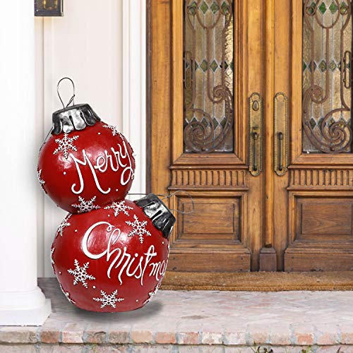 Alpine Corporation ZTY104CC Alpine Christmas Ball Ornament with Color Changing LED Light, Indoor Festive Home, Red Holiday décor, Multi