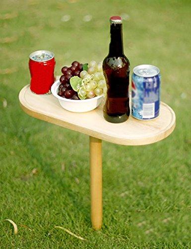 Tables de Pique-Nique portatives en Plein air Tables de Pique-Nique en Bois Pliant Tables en Bois de Caoutchouc