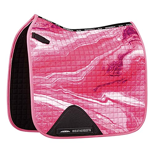 Weatherbeeta Prime Marble Doma - Cojín para silla de montar - Pink Swirl Marble Print Pony