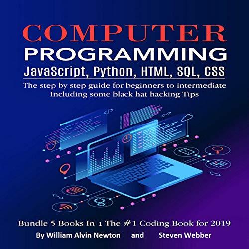Computer Programming: JavaScript, Python, HTML, SQL, CSS audiobook cover art