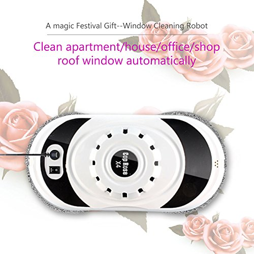 Best Buy! Cop Rose on Amazon Robotic X4 Window Cleaning Robot Automatic Sweeper Vacuum Shower Cleane...