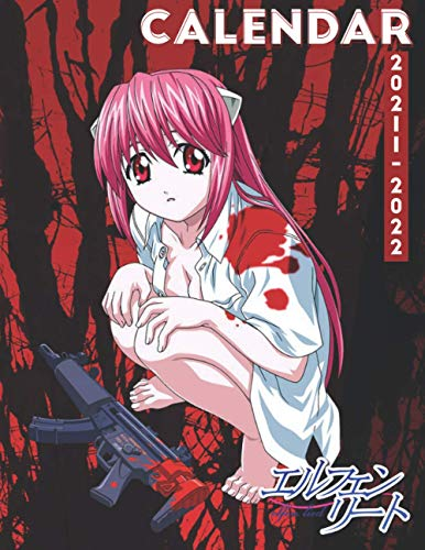 Calendar 2021-2022: Elfen Lied Anime 18-month Calendar 2021-2022 with 8.5x11 inches size - Exclusive Illustrations!