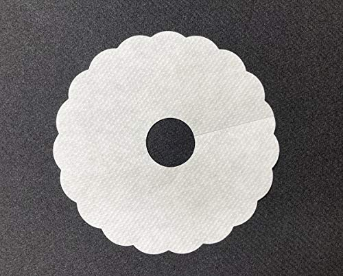 Pilsdeckchen aus Saugstoffpapier UNI in Weiss | Tropfenfänger | Schaum Fänger | Ø 90mm mit 20mm Innenloch | 1000 Stück | Mank