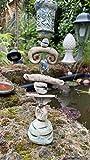 Keramik Kerzenständer, Kerzenhalter, Steinzeug Vogeltränke, getöpfert